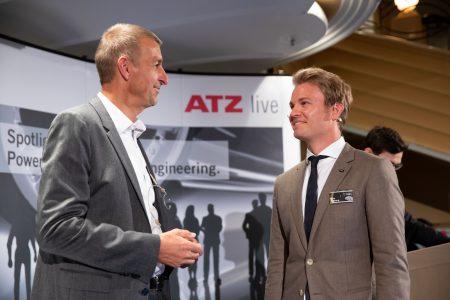 Prof. Peter Pfeffer und Nico Rosberg