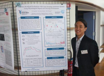 Yu-Jeng Kuo mit seinem Poster